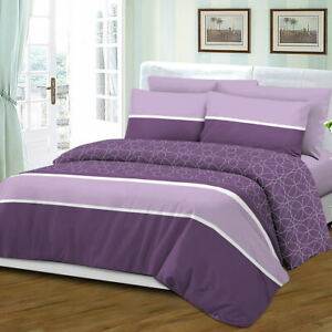 Queen Size 6 Piece Sheet Set Bamboo Style Deep Pocket Fade Resistant Purple