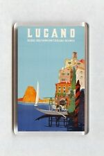 Vintage Travel Poster Fridge Magnet - Lugano, Suisse, Switzerland (2)