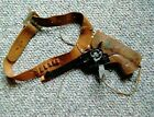 Mattel Fanner 50 Black/Holster  Used Condition Tape on Hand-Grips Re- Painted