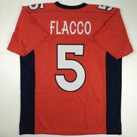 New JOE FLACCO Denver Orange Custom Stitched Football Jersey Size Men's XL