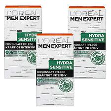 (190,13€/L) 3x 50ml Loreal Men Expert Hydra Sensitive Birkensaft Feuchtigkeitspf