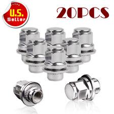 20 Chrome Mag Lug Nuts | 12X1.5 | fits Lexus Toyota OEM Factory Wheels w/Washer