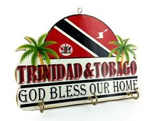 TRINIDAD AND TOBAGO WALL PLAQUE ISLAND WEST INDIES CARIBBEAN KEY HOOK HOLDER