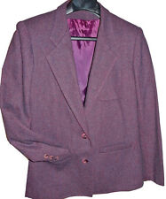 Perfect Purple Heather Wool Jacket Blazer Career Womens EUC Sz M 10-12 Prato
