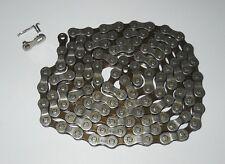 Chaine velo vtt vtc 8 vitesses  gris/brun 114mailons NEUVE (880)