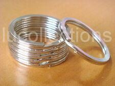 """100 Key Rings Keyrings Silver Metal Split Rings 30mm 1 1/8"""" H131-100"""