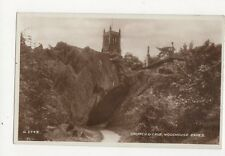 Church & Cave Woodhouse Eaves Vintage RP Postcard 204a