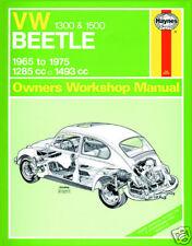 Haynes Manual Volkswagen Beetle 1300 1500 1965-75 (0039)