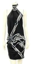 Gucci Black Silk Print Halter Lexi Scarf Top NEW