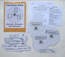 Teacher Made Literacy Center Educational Learning Resource Game Punctuation