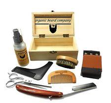 Orgánica Barba De Madera En Caja De Lujo afeitar Grooming Kit Free UK Post