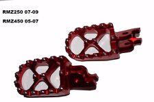 Suzuki Rmz 450 Rmz450 Racing Billet Footpegs 05 06 07 Red