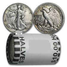 90% Silver Walking Liberty Half Dollars - $10 Face Value Roll-Average Circulated