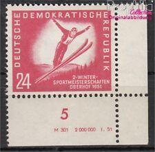 DDR 281DV avec mention neuf 1951 championnats de sports d'hiver le DDR (8844112