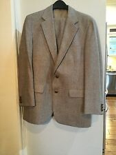 Men's 40R Tan Wool Tweed Suit By Palm Beach - Excellent Condition!