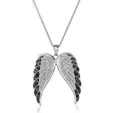 Women  Angel's Wings Rhinestone Crystal Pendant Necklace Wedding Engagement