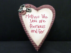 shabby chic country vintage decor verse sign fabric box mother heart