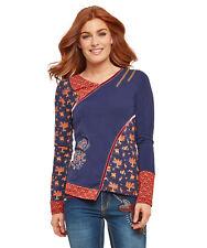 Joe Browns Womens Long Sleeve Mix & Match Animal Print Top Blue Multicoloured 14