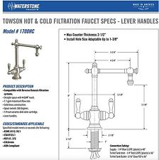 Waterstone Towson Hot & Cold Drinking Water Filtration Faucet Matte Black