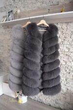 Womens Real Genuine Fox Fur Vest Gilet Warmer Waistcoat Jacket L