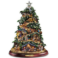 THOMAS KINKADE MUSICAL LIGHTED NATIVITY CHRISTMAS TREE HOLIDAY DECOR NEW