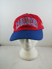 Montreal Canadiens Hat (VTG) - Two Tone Arch Script by Starter - Adult Strapback
