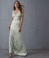 Women's NEW Reiss Mint Embelished Wedding Cocktail Maxi Dress Size 6-12 RRP £350