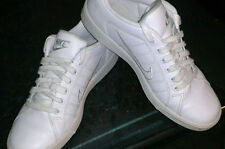 Nike Ladies White Leather Sneakers Sz 10 Eu 42Athletic Basketball Court Shoes