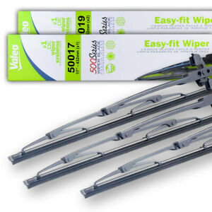 """NEW OEM SET 17""""&19""""&19"""" WIPER BLADES FITS PLYMOUTH CONQUEST TSI 84-86 68003937AA"""