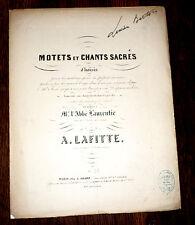 Tantum ergo motet au St Sacrement partition orgue chant baryton 1857 A. Lafitte