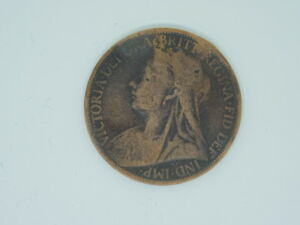 1900: Queen Victoria - One Penny Coin Great Britain