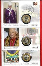 """3x Numisbriefe """"Vatikan-Bennedikt+ Franziskus"""" mit Medaillen!  auch einzeln!"""