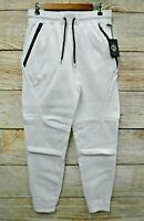 Switch Joggers Mens Medium White Skinny Sweat Zipper Jogger Pants New