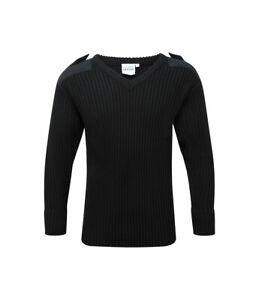 Men's V-Neck Military Security Law Enforcement Uniform Sweater