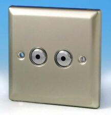 V-Pro IR, 2 Gang, 100 Watt IJ Remote/Touch LED Dimmer Satin Chrome