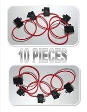 10 pcs Scosche 14 ga ATC Heavy Duty Fuse Holder 12 Volt Automotive Copper wire