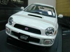 WOW EXTREMELY RARE Subaru Impreza WRX STi 2001 RHD White 1:18 Auto Art-WRC/2006