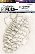 "Dina Wakley MEdia Chipboard Shapes ""Botanical"" | 5pcs | 4.3 x 8.8 in"