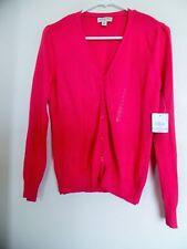 St Johns Bay Island Pink Womens Cardigan  Sweater Sz  PS