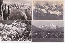 Lot 4 cartes postales anciennes CHAMONIX MONT-BLANC 10
