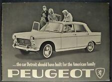 1963-1964 Peugeot Catalog Sales Brochure 403 404 Sedan Excellent Original