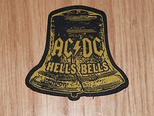 AC/DC - HELLS BELLS (SHAPED) (NEW) SEW ON W-PATCH OFFICIAL BAND MERCHANDISE
