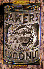 BAKER'S COCONUT - LETTERPRESS PRINTER'S BLOCK - EXTREMELY RARE - c1930-40s