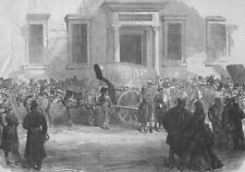 MADRID. First Spanish Republic. Arrival of Specie at the Bank of Spain, 1873