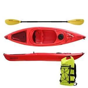 Sit In Kajak Neptun 305cm HDPE Freizeitkajak Kayak Wanderkajak Boot TK 125kg rot
