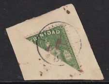 """TRINIDAD 1882 """"1D"""" IN RED ON BISECTED 6D, ON 1882 PIECE, CAT £300 ON COVER"""