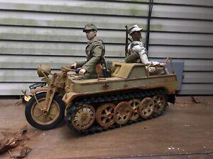 1/6 WWII German Afrika Korps Kettenkrad