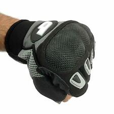 Cycle Force Tactical Half Finger Gloves, Medium (40% Leather)