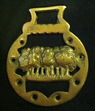 Vintage NINE ELMS RAILWAY Horse Harness Brass England WOW YOUR WALLS Train Lover