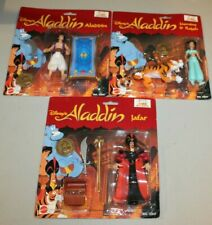 3 Sealed 1992 Disney Aladdin figures Jasmine Rajah & Jafar MOC NOS MISP Gift HTF